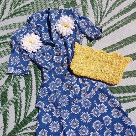 Vintage 1940s Blouse and Skirt Set | 40s Summer Su