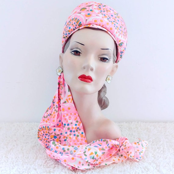 Vintage 1960's Sally Victor Hat | 60's Wimple Hat… - image 2