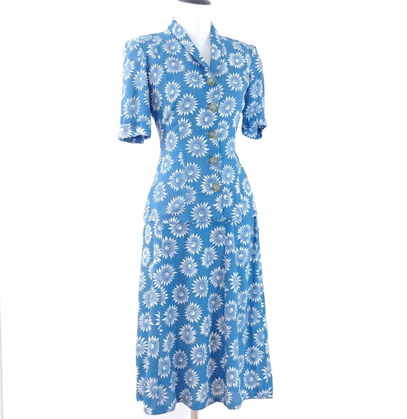 Vintage 1940s Blouse and Skirt Set | 40s Summer S… - image 7