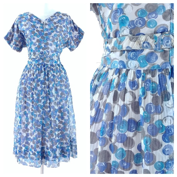 Vintage 1950's Fit and Flare Dress   1950's Bubble