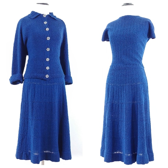 Vintage 1950s Dress Set | 50s Sweater Set | 60s Sw