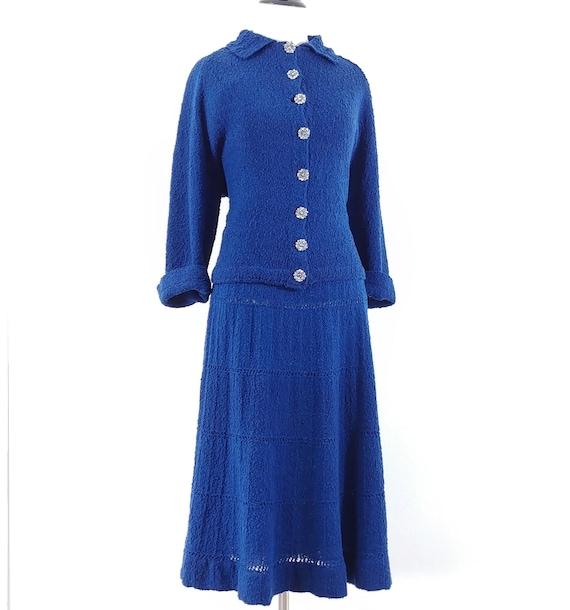 Vintage 1950s Dress Set   50s Sweater Set   60s S… - image 7