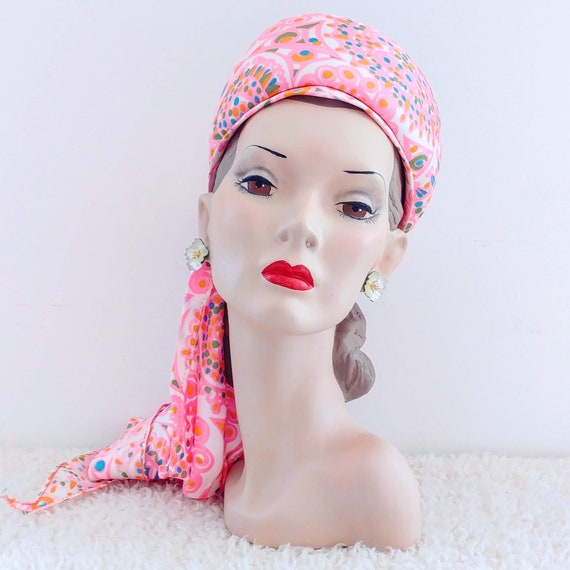 Vintage 1960's Sally Victor Hat | 60's Wimple Hat… - image 3