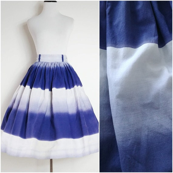 Vintage 1950's Purple Ombre Skirt   1950's Flared