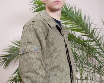 NVA Wattejacke•Green army jacket•Vintage army parka•Camo army coat•Vintage jacket•Camouflage jacket•Combat jacket•NVA Vintage militaria•80s