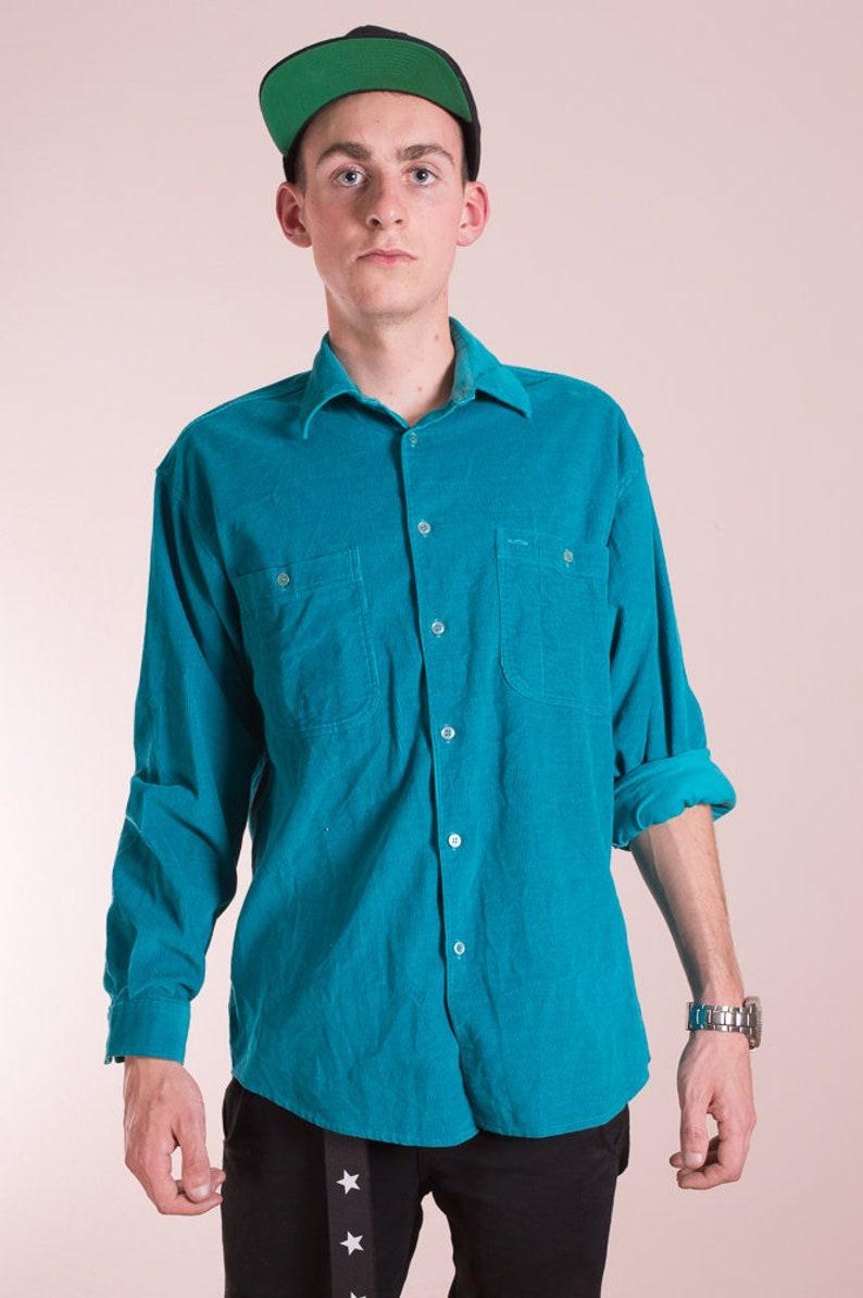 Vintage shirt\u2022Cord shirt\u2022Corduroy shirt\u2022Casual Shirt\u2022 cord shirt\u2022Vintage button up shirt\u2022Vintage cord\u2022Vintage clothing\u202290s collar shirt