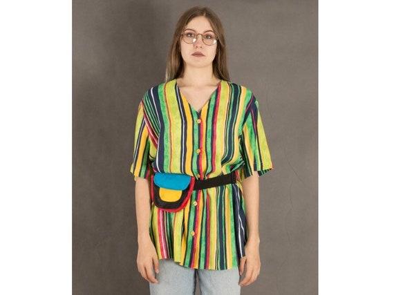 Vintage 90s Colorful Blouse