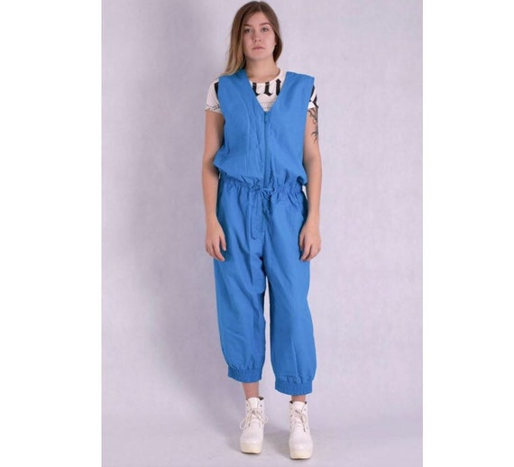 Amazing women's 80s  jumpsuit with terry cloth bod
