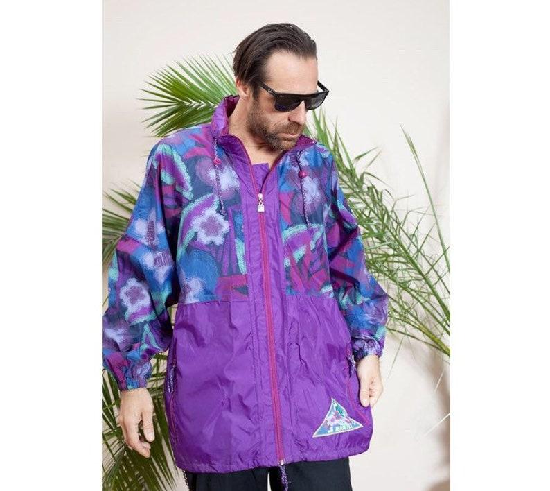 Vintage 90er Jahre bunte Anorak Jacke Windjacke •90s Activewear•Old Schule Jacket•vintage clothing•90s hip Hop windbreaker•90s