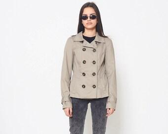 91d6a021164 Vintage Grey VERO MODA Button Closure Jacket  Size S