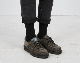 723d50693c Vintage Women s Green Grey MEPHISTO Autumn Leather Trainers Shoes  Size UK  5.5