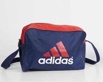 Vintage Blue Red White ADIDAS Shoulder Bag 324449c72aa42