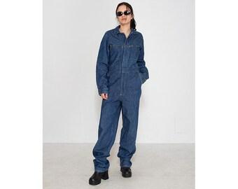 46aec2473a7379 Vintage Blue LEE Denim Jumpsuit  Size W31 L36