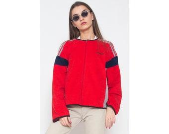 Vintage ADIDAS Red Track Jacket/ Size L/XL
