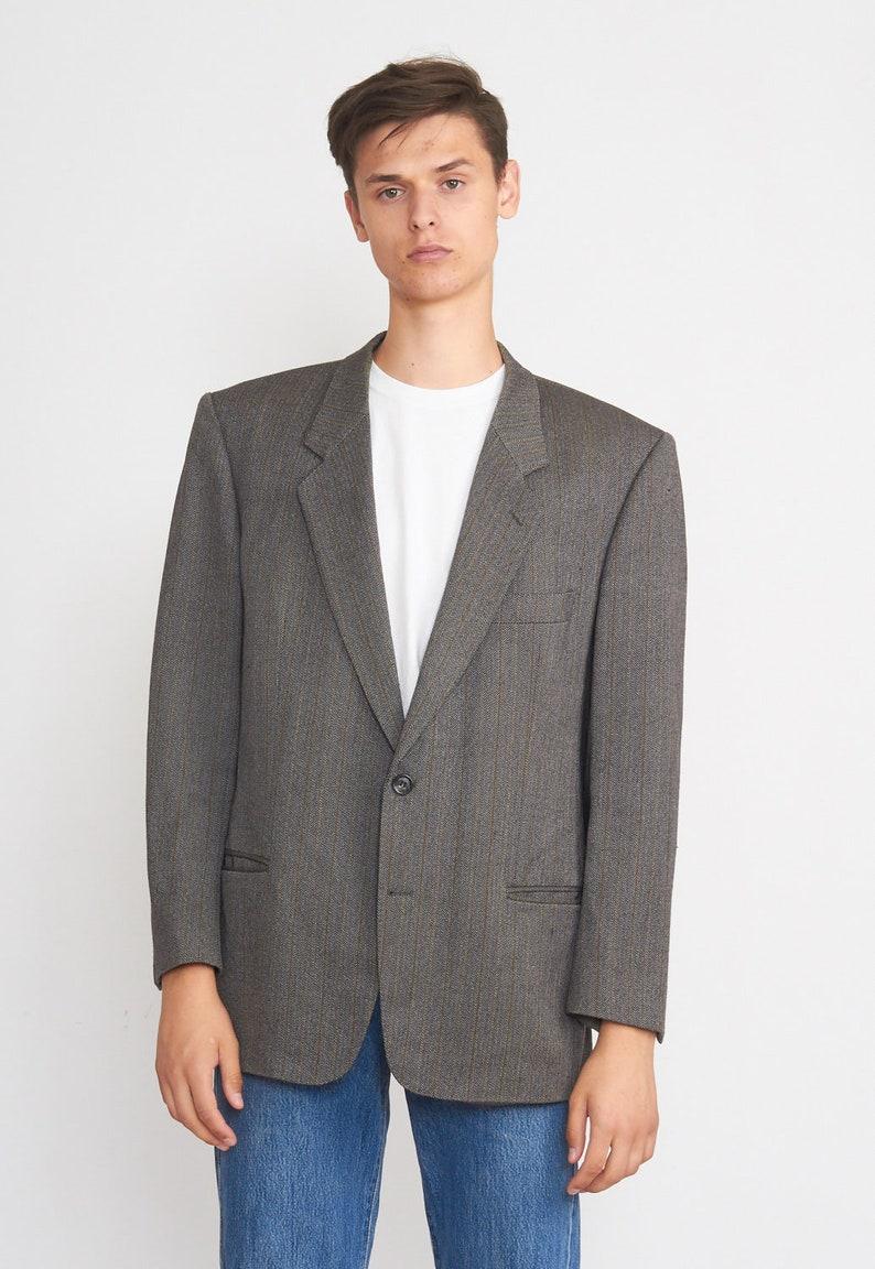Vintage Grey BOSS Jacket Blazer Size 52
