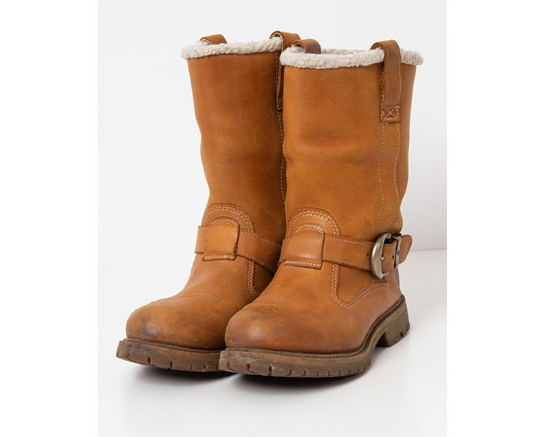 outlet store sale catch sale Vintage Brown TIMBERLAND Leather Boots/ Size 38