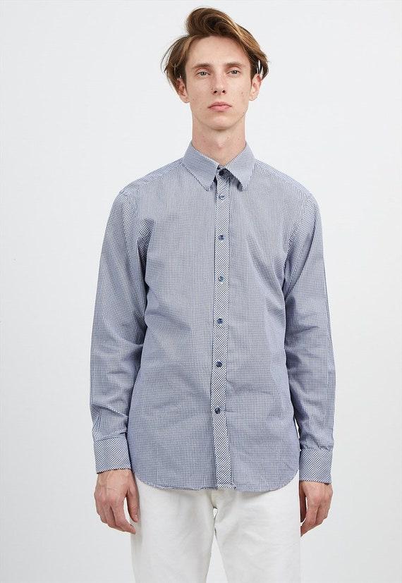 0e56650b995a Checkered Blue KENZO Long Sleeves Shirts  Size 41 16