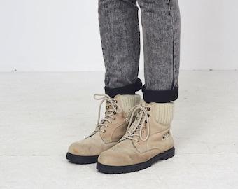 Vintage Beige DONNA SPORTIVA Suede Boots/ Size EU 40.5