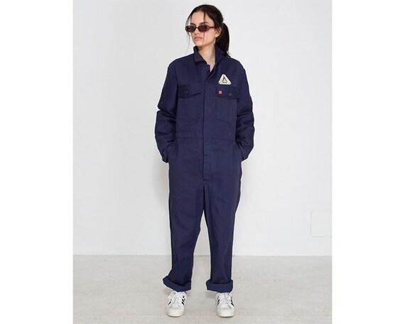Vintage Blue Workwear Suit Jumpsuit/ Size 50