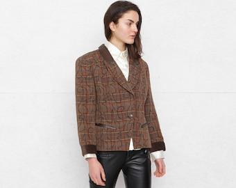 Vintage Brown Jacket Blazer/ Size GB 14 or Large