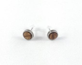Ohrring Holz ohne Motiv