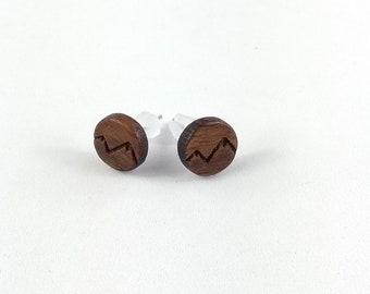 Ohrring Holz mit Motiv