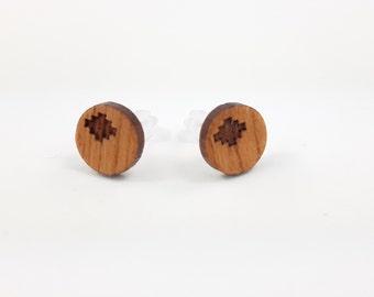 Ohrstecker Holz Kirschbaum Chacana 10mm