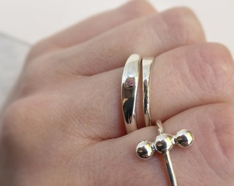Combination of rings, hammered rings, stackable rings, different thickness rings