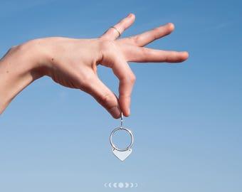 Julia earrings #1 / Geometric earrings / Silver earrings / Geometric shapes / Round earrings / Free movement earrings / Free movement hoops