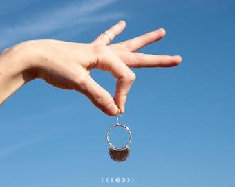 Julia earrings #4 / Geometric earrings / Silver earrings / Geometric shapes / Round earrings / Free movement earrings / Free movement hoops