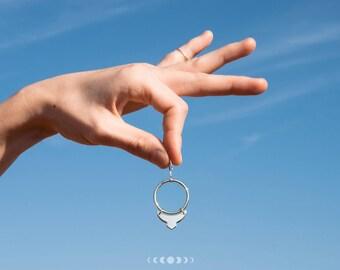 Julia earrings # 5 / Geometric earrings / Silver earrings / Geometric shapes / Round earrings / Free movement earrings / Free movement hoops