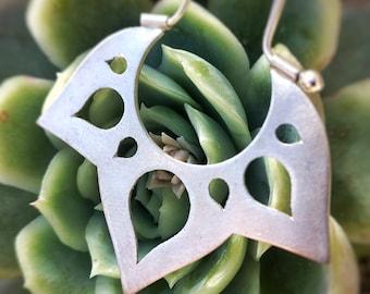 Lotus #1 earrings / Mandala earrings / Silver lotus / Ethnic earrings