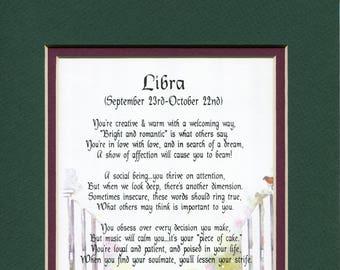 Libra Poem Etsy
