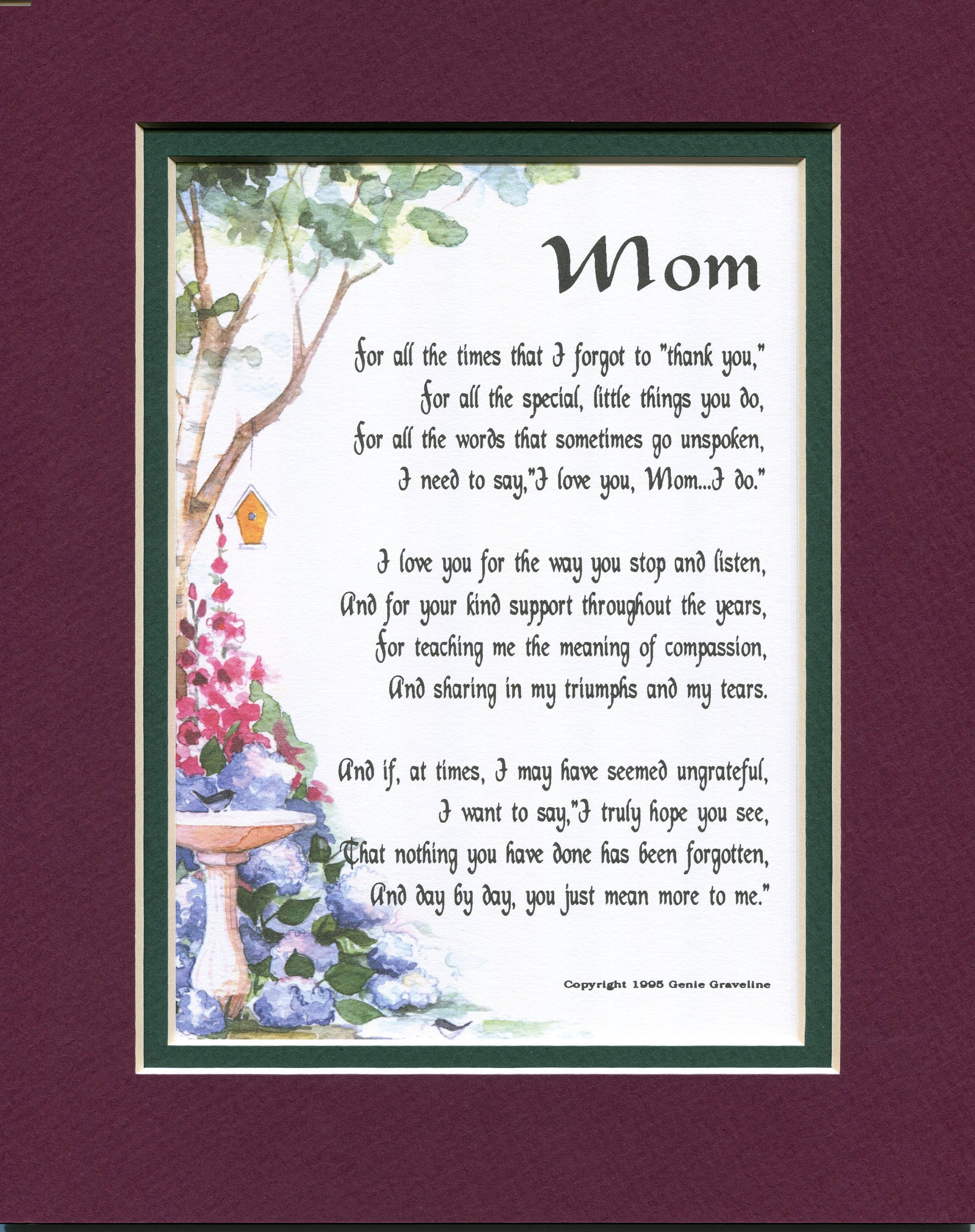 Gifts For Women Gifts For Her Gifts For Mom Mom Poem Print Etsy