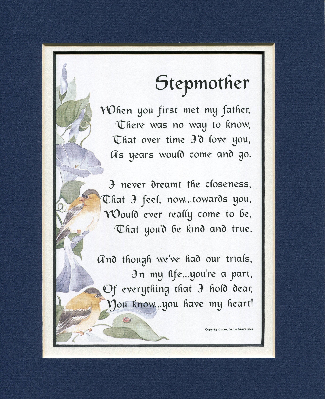 Handmade Gifts For Stepmom Stepmother Birthday