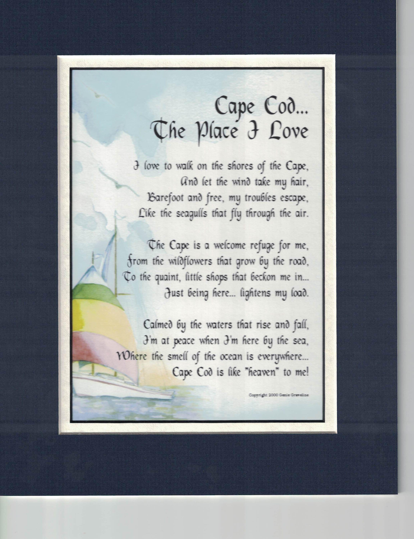 Cape Cod Poem Housewarming Gift