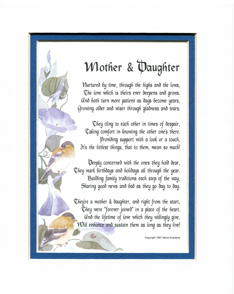 Gifts For Women Gift Her Mom Poem Print