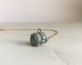 Elephant Pendant (with necklace)