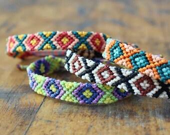 Friendship Macrame Hippie Bracelet in different colors