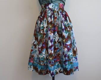 1950s skirt/ swing skirt/ rockabilly/ size S
