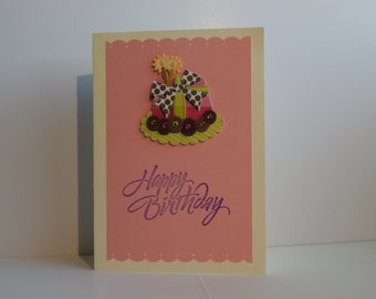 Happy Birthday Card, Pink