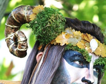 PROMPT DELIVERY Horns Faun Headdress