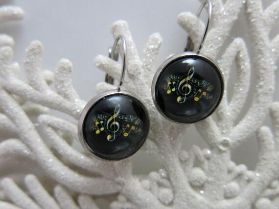 Earrings - Earring - Hypoallergenic glass.