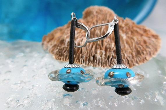 Glass Lampwork, hypoallergenic earrings.