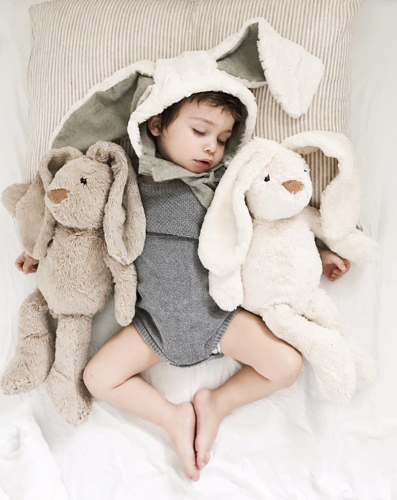 1db16ea5a56f0f Cream Bunny Hat/Baby Bonnet/Cream Bunny Bonnet/Winter | Etsy