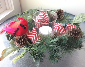 Pinecone Flower Arrangement, Winter Arrangement, Small Silk Centerpiece, Small Flower Arrangement, Winter Centerpiece, Small Arrangement