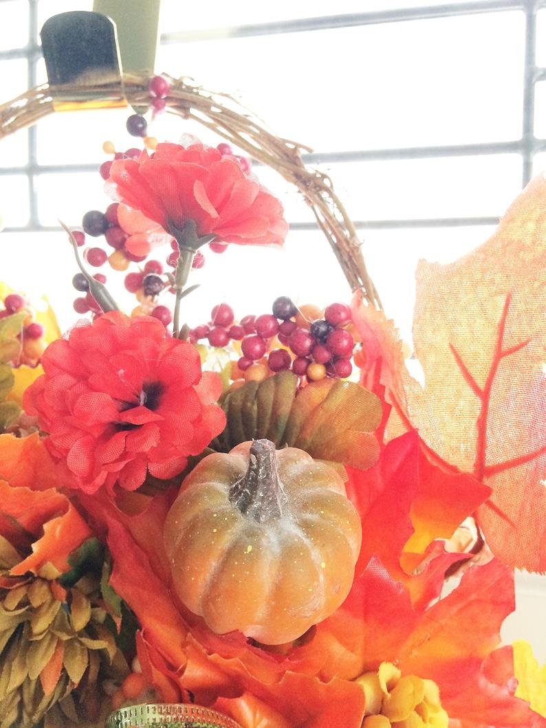 Door Wreath Wreath for Door Fall Wreath Front Door Wreath Autumn Wreath Fall Door Wreath Carnation Wreath Basket Wreath Fall Wreaths