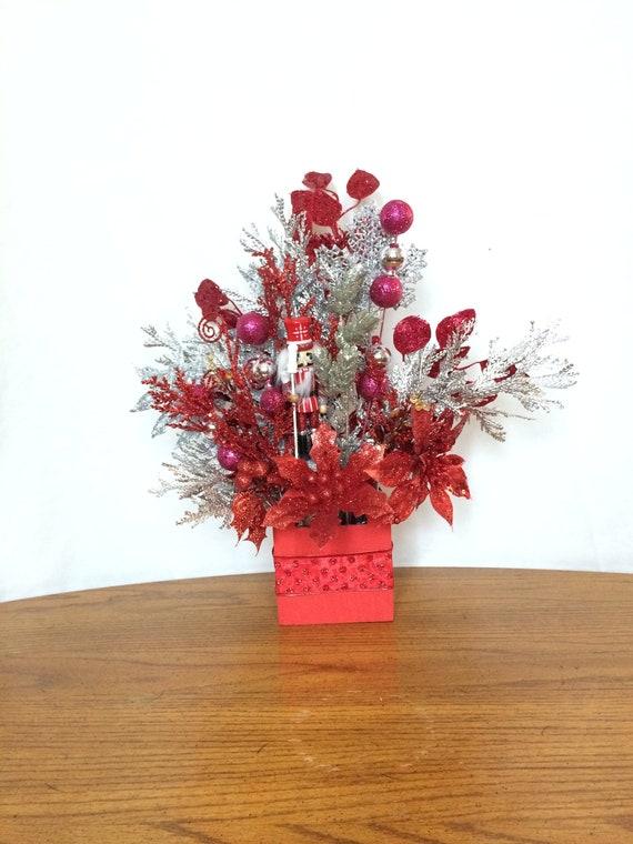 Christmas Flower Arrangements.Small Flower Arrangement Small Christmas Flower Arrangement Small Floral Centerpiece Christmas Table Centerpiece Christmas Centerpiece