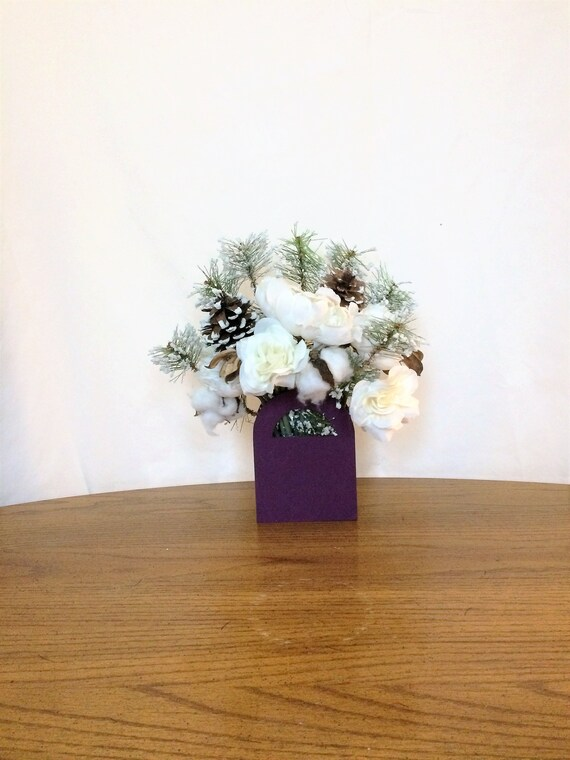 Christmas Table Centerpiece Small Flower Arrangement Small Etsy