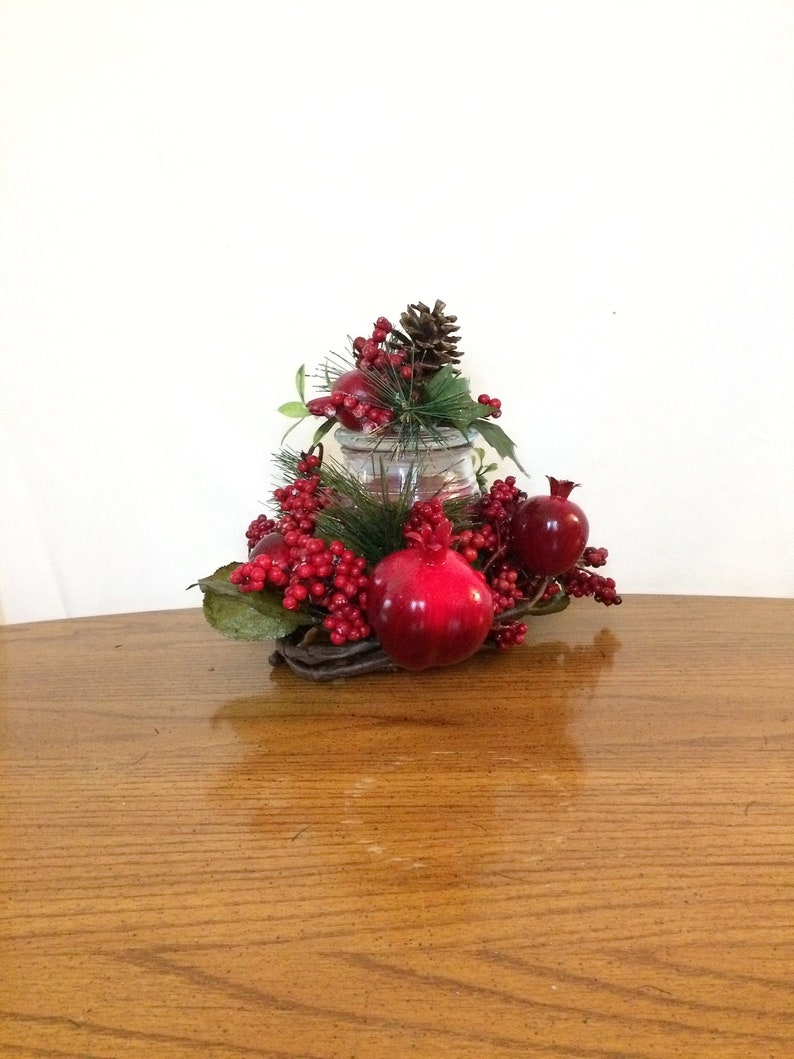 Christmas Candle Rings.Candle Ring Holiday Candle Wreath Christmas Candle Centerpiece Candle Arrangement Winter Centerpiece Table Centerpiece Candle Gift
